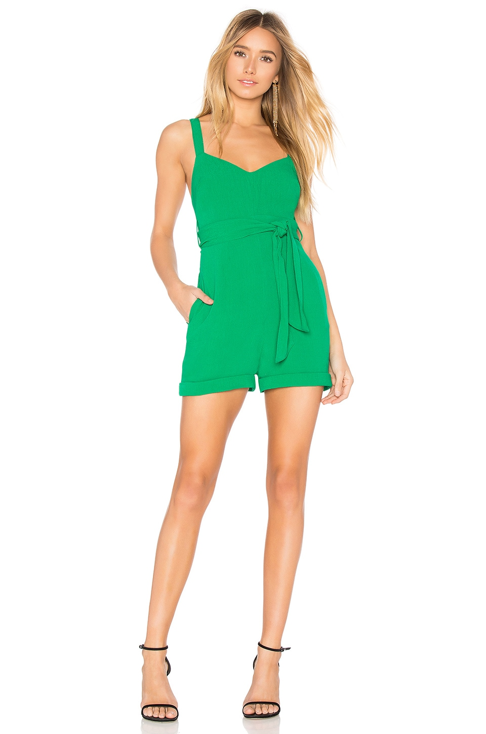 FLYNN SKYE Romy Romper in Jolly Green