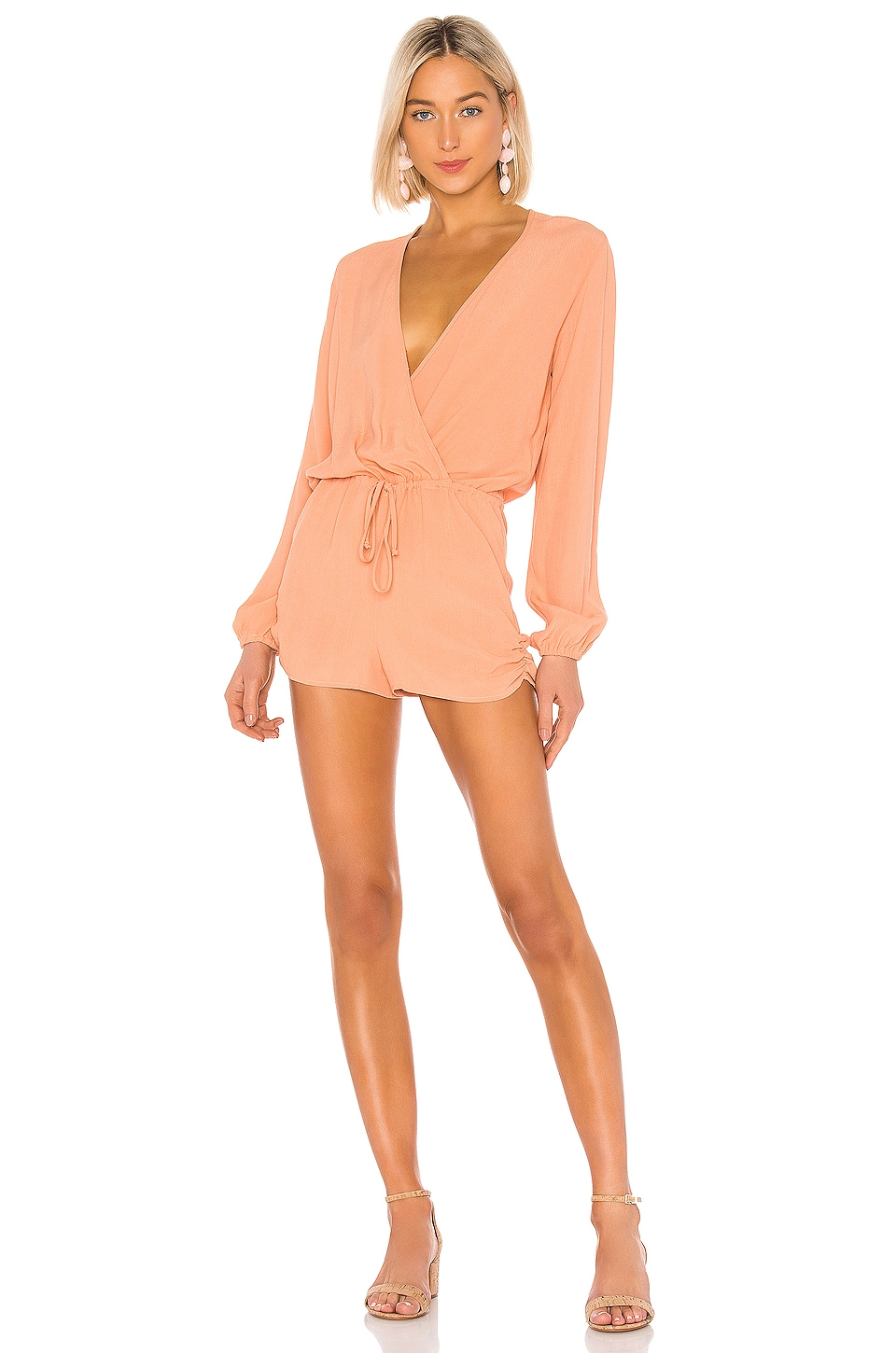 FLYNN SKYE Gina Romper in You're A Peach