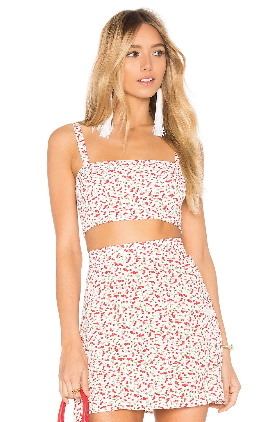 FLYNN SKYE Alexis Crop Top in Sweet Cherry Pie