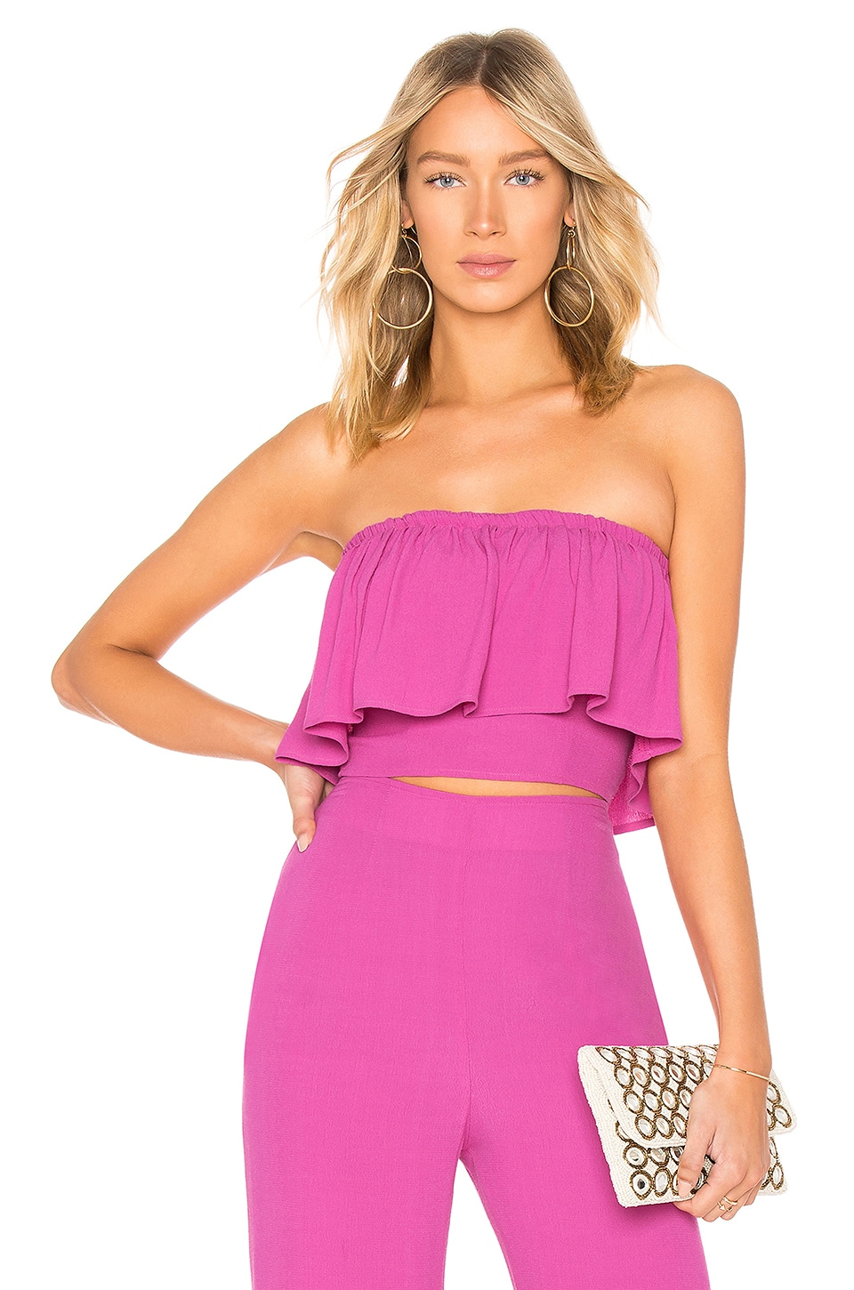 FLYNN SKYE Fiona Crop Top in Passion Fruit