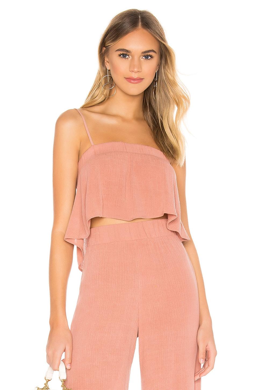 FLYNN SKYE Kim Top in Pink Crinkle