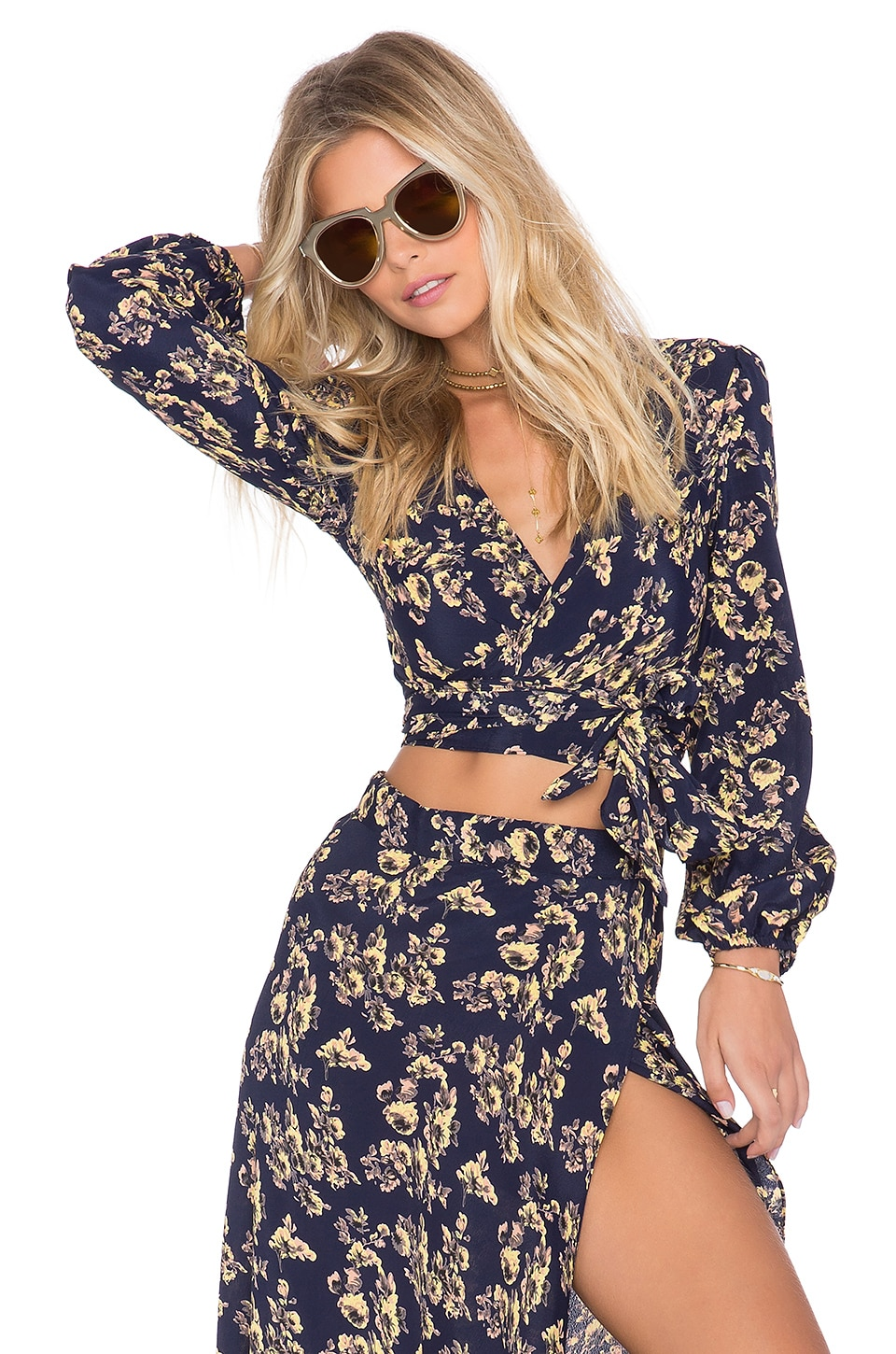 FLYNN SKYE x REVOLVE Thats a Wrap Long Sleeve Top in Twilight