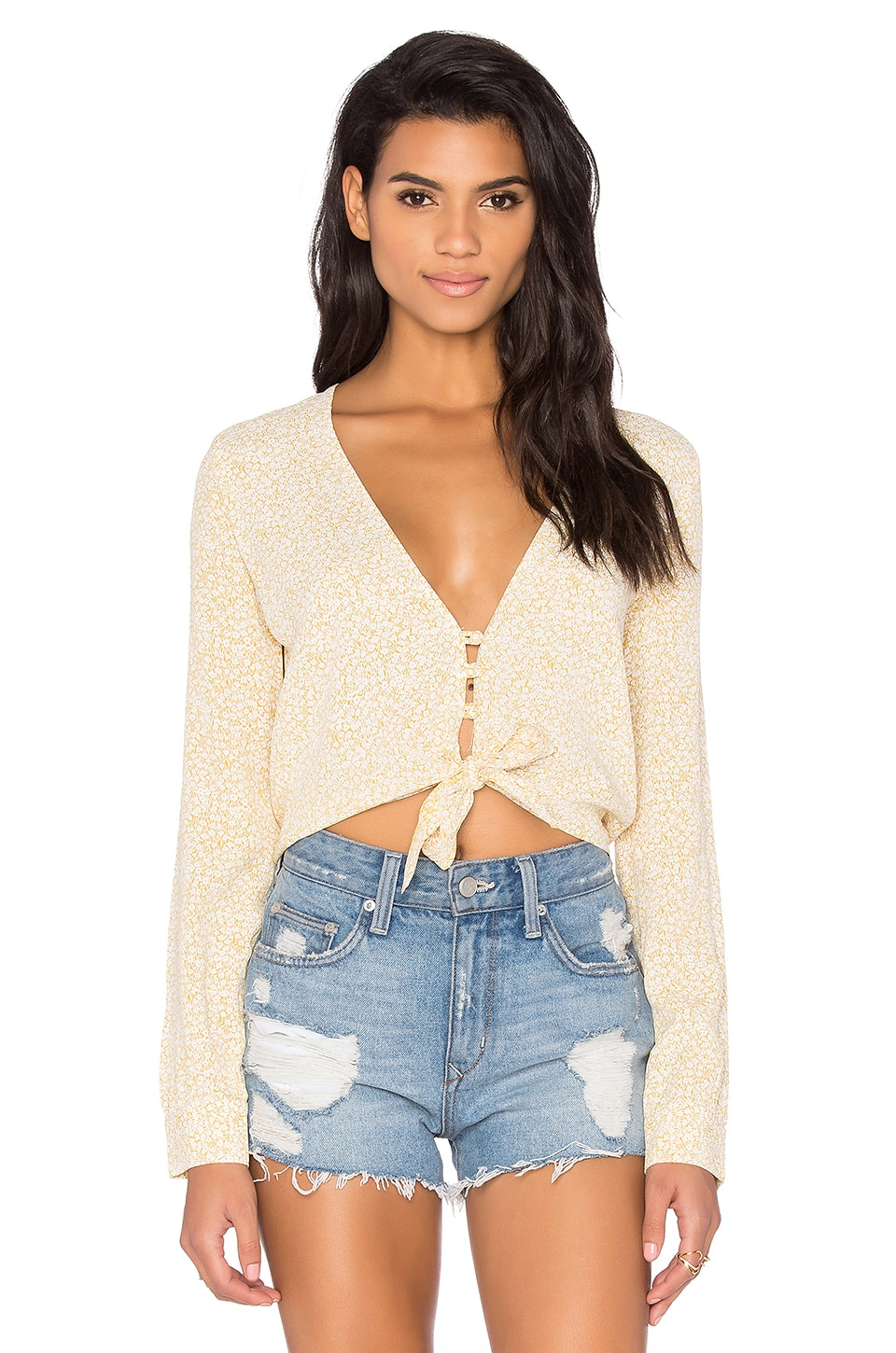 FLYNN SKYE Riley Crop Top in Sunny Delight