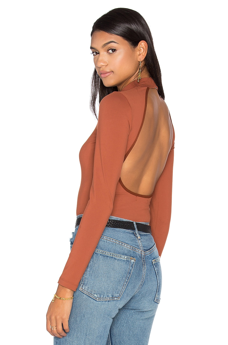 FLYNN SKYE Cody Bodysuit in Brick