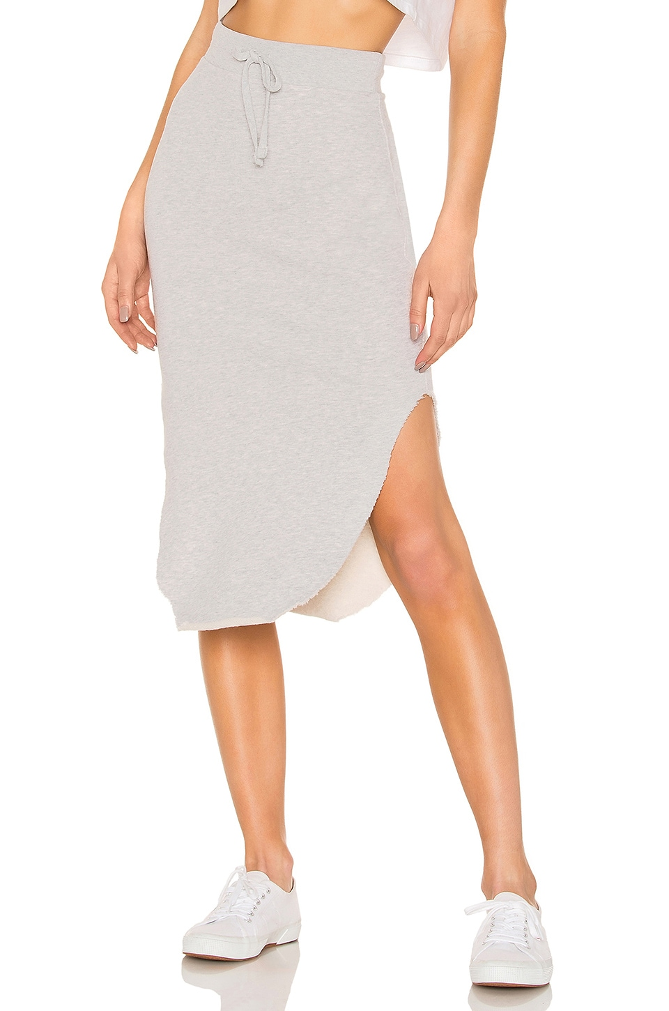 Frank & Eileen Tee Lab Long Fleece Skirt in Gray Melange