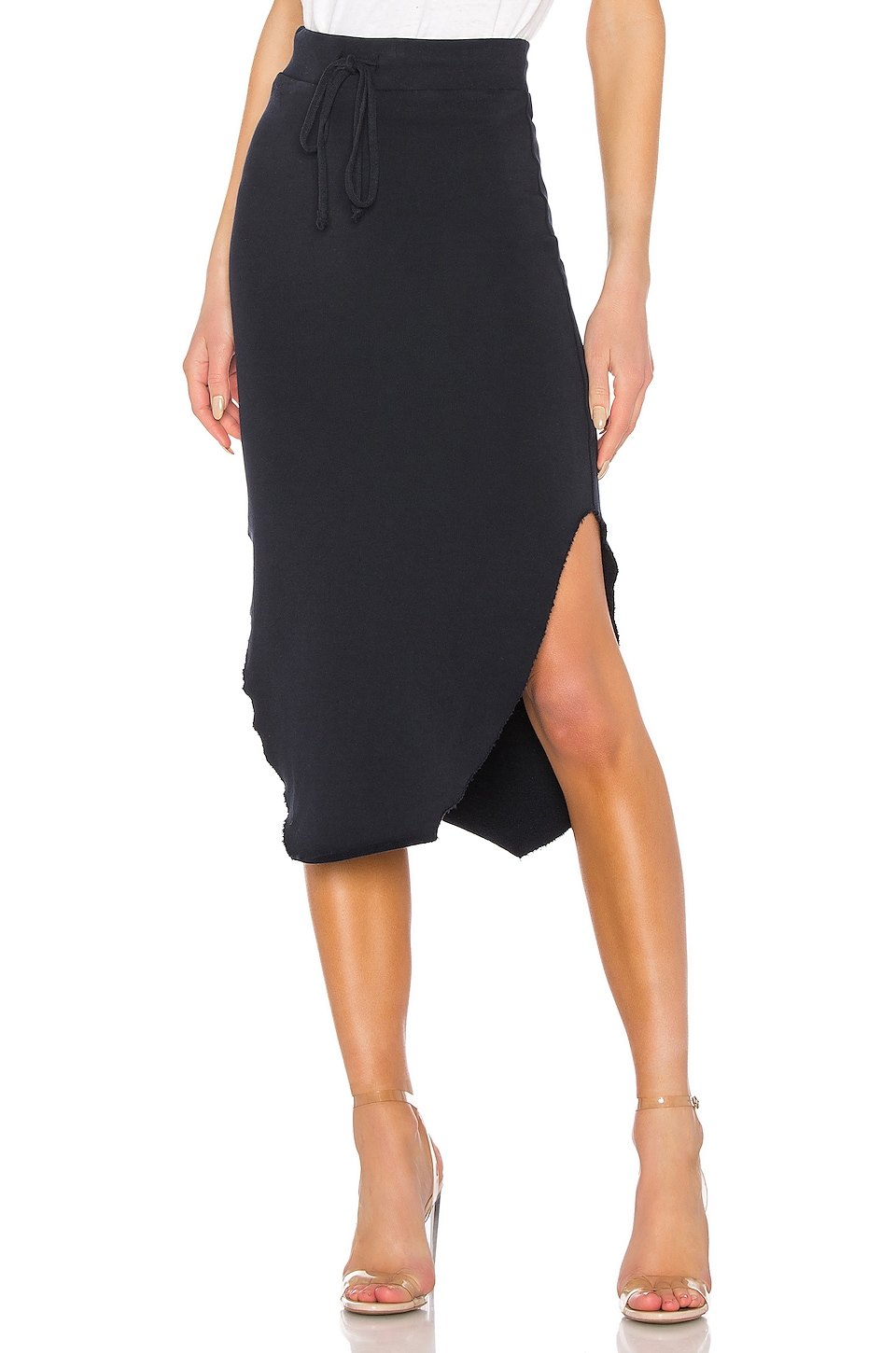 Frank & Eileen Tee Lab Long Fleece Skirt in British Royal Navy