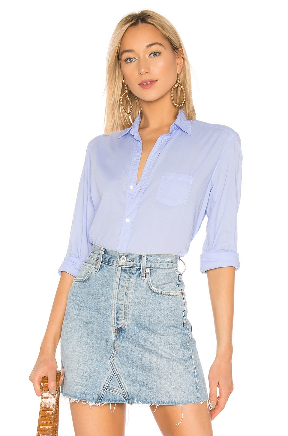 Frank & Eileen Eileen Button Down in Lavender