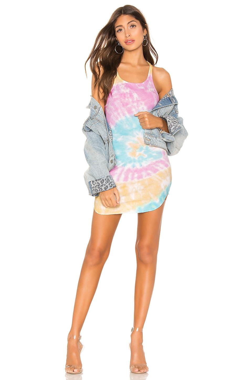 Frankie B Shea Tank Mini Dress in Tie Dye