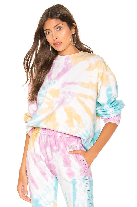 Frankie B Sinead Boyfriend Crew Neck Sweatshirt in Tie Dye