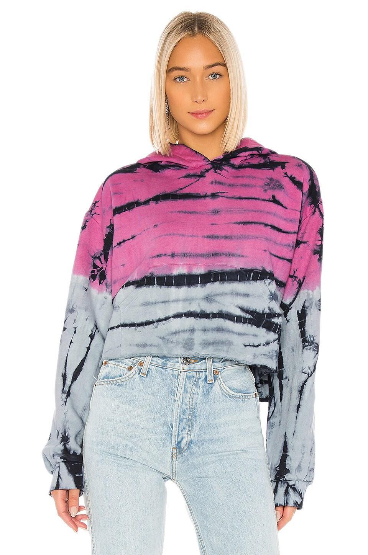 Frankie B Dani Hoodie in Pink & Blue Tie Dye