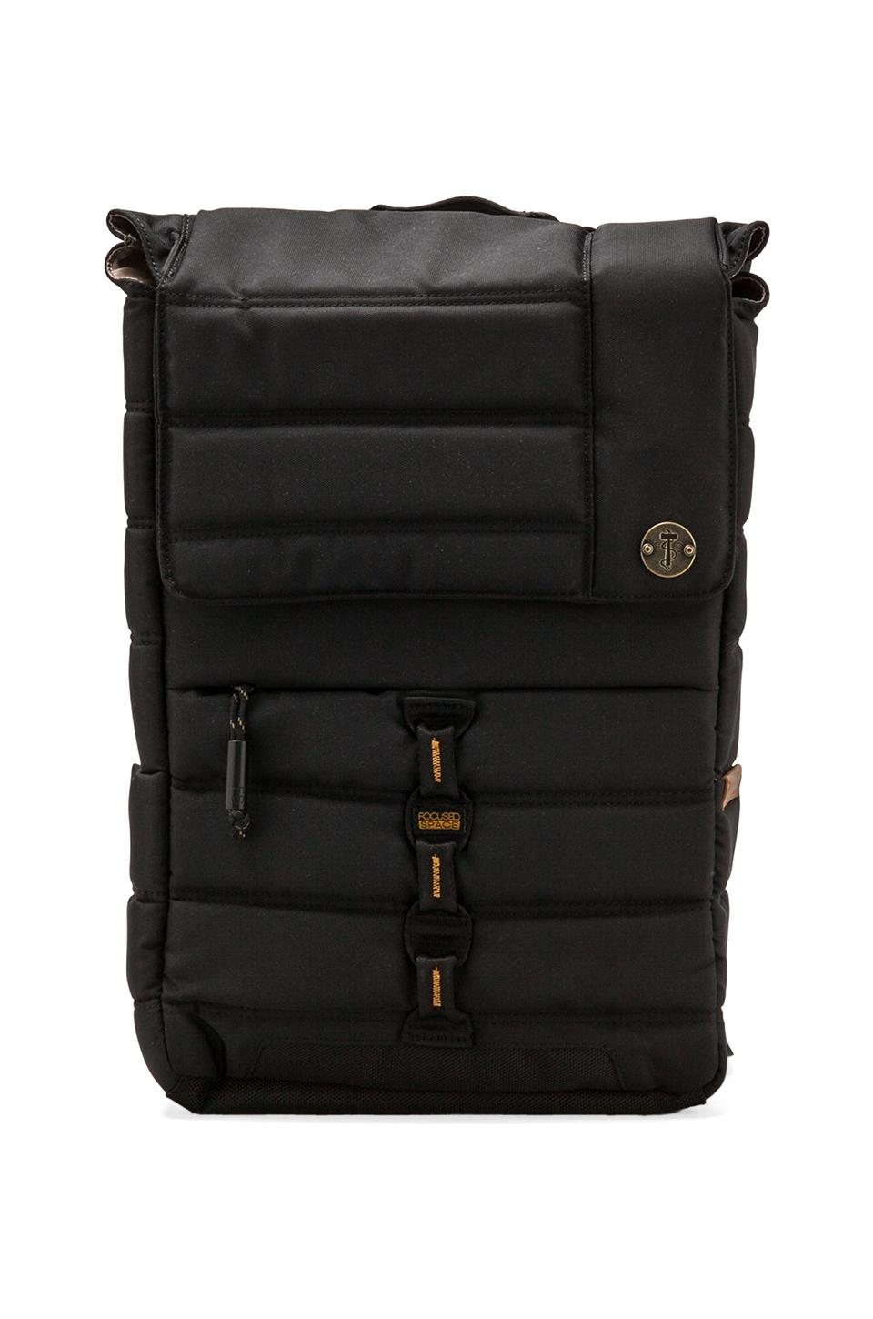 Focused Space The Slimline Backpack w/Padded Laptop Compartment in Black