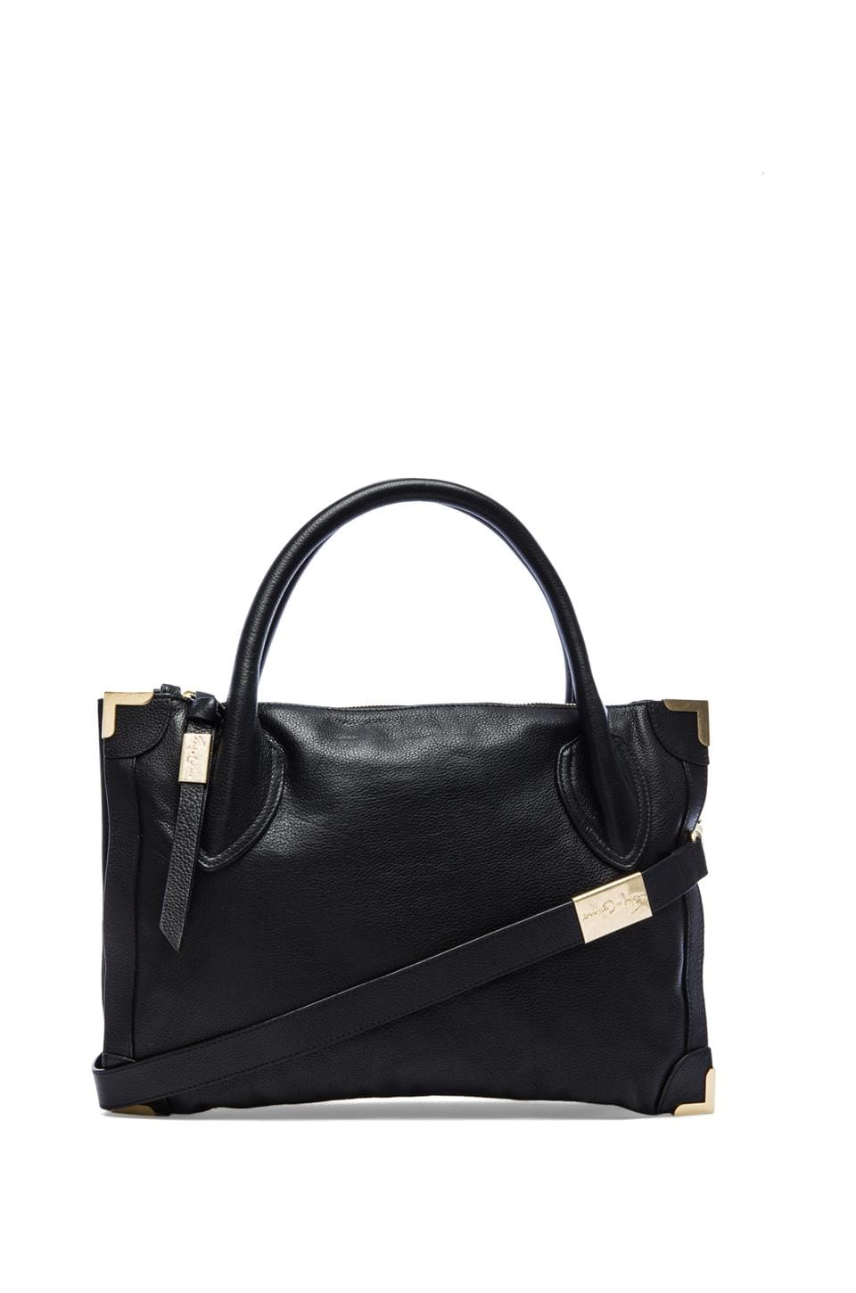 Foley + Corinna Framed Satchel in Black