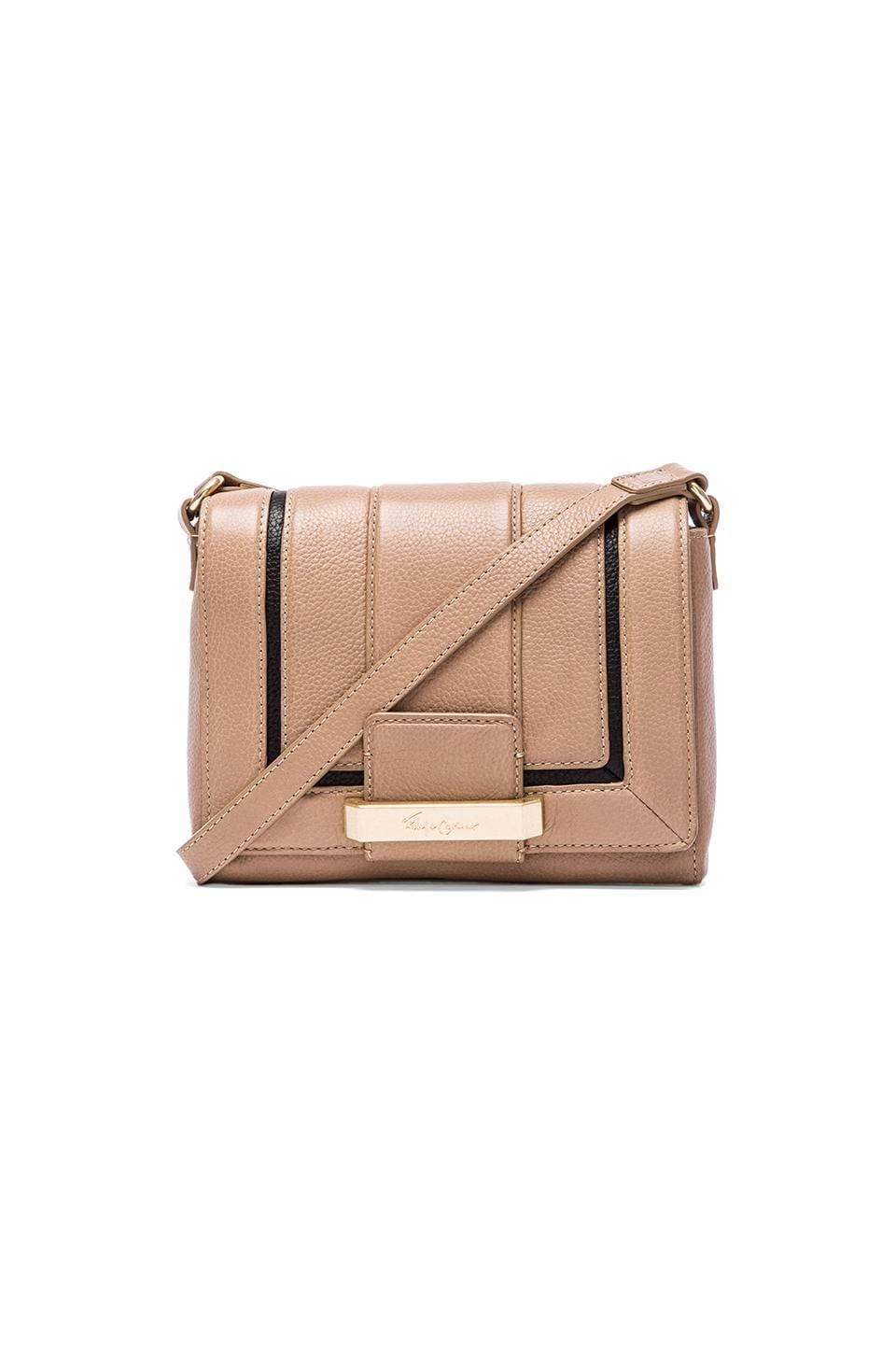 Foley + Corinna Becker Crossbody in Almond & Black