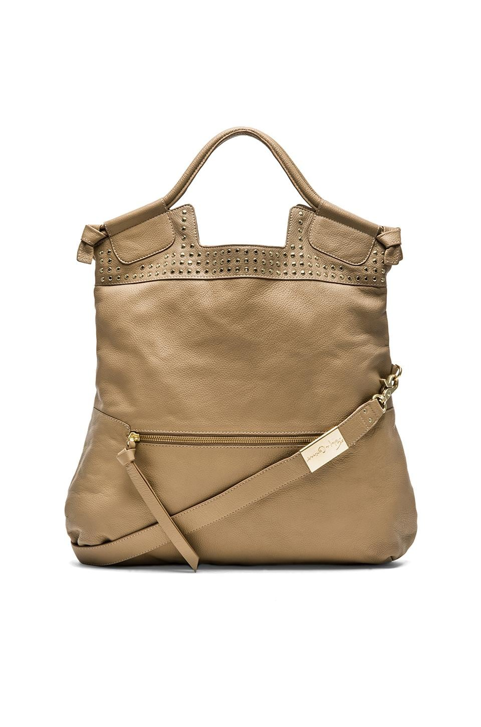 Foley + Corinna Moto Mid City Tote in Almond