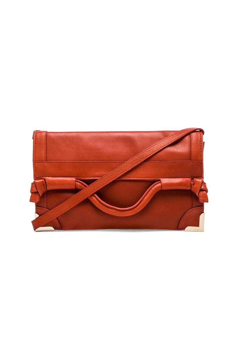 Foley + Corinna Framed Flap Crossbody in Spice