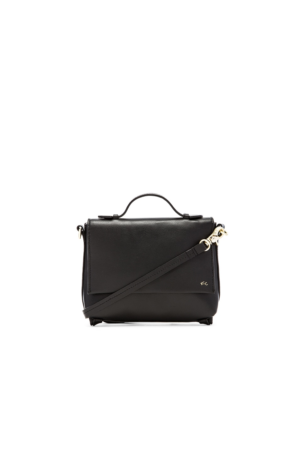 Foley + Corinna Gigi Flap Crossbody in Black