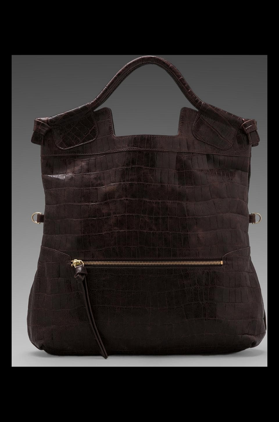 Foley + Corinna Mid City Bag in Brownie Croc