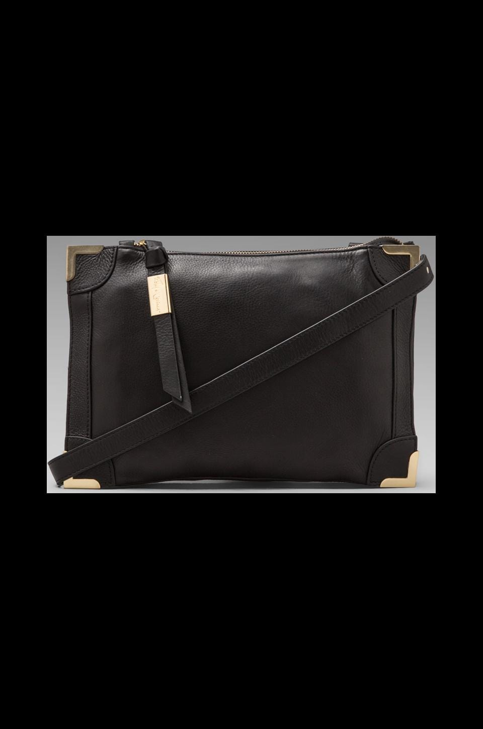 Foley + Corinna Framed Crossbody Bag in Black
