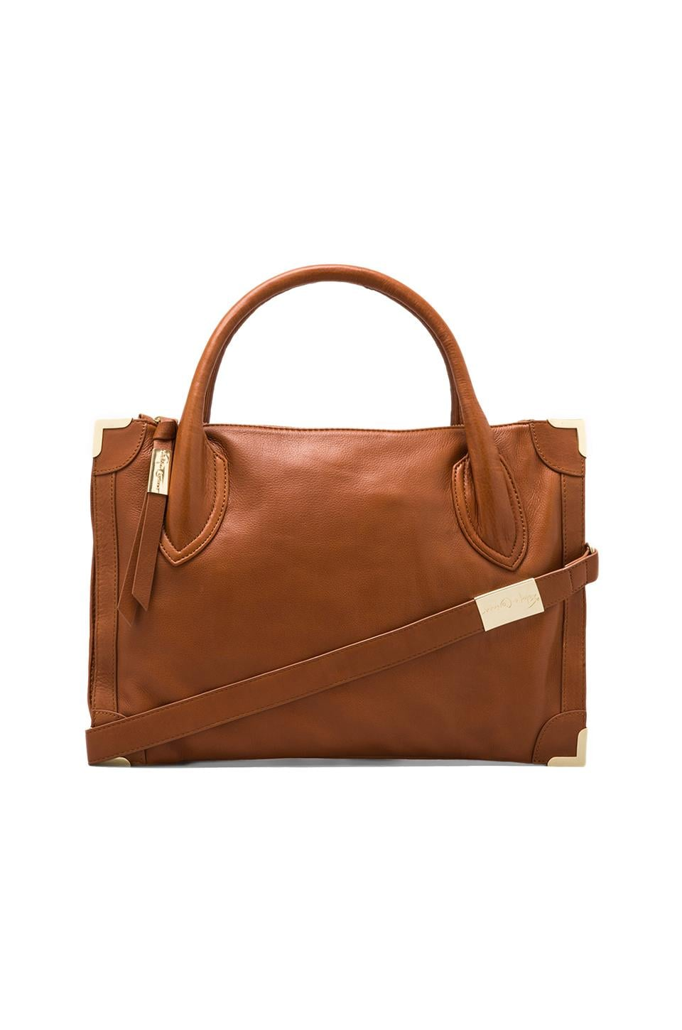 Foley + Corinna Framed Satchel in Whiskey
