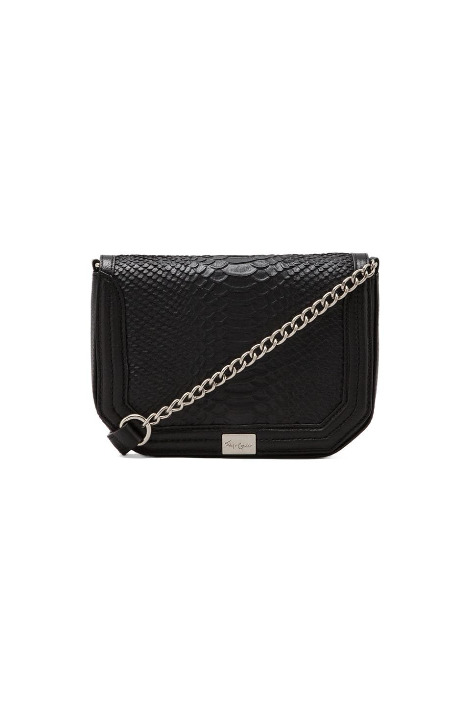 Foley + Corinna Plated Mini Crossbody Bag in Raven