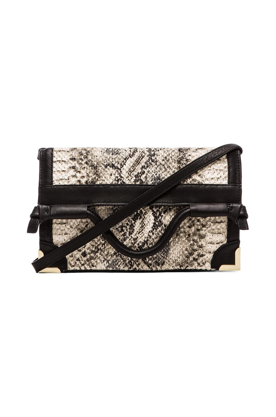 Foley + Corinna Framed Flap Crossbody in Woven Snake
