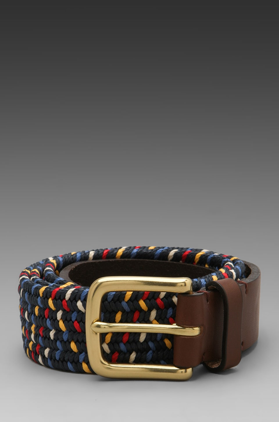 Folk Buckley Belt in Navy Multi