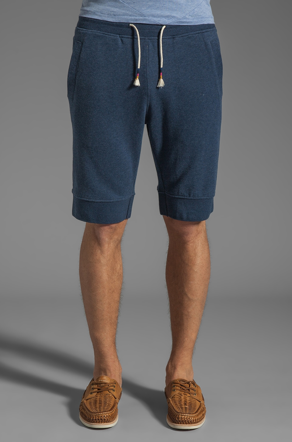 Folk Track Short in Navy Multi