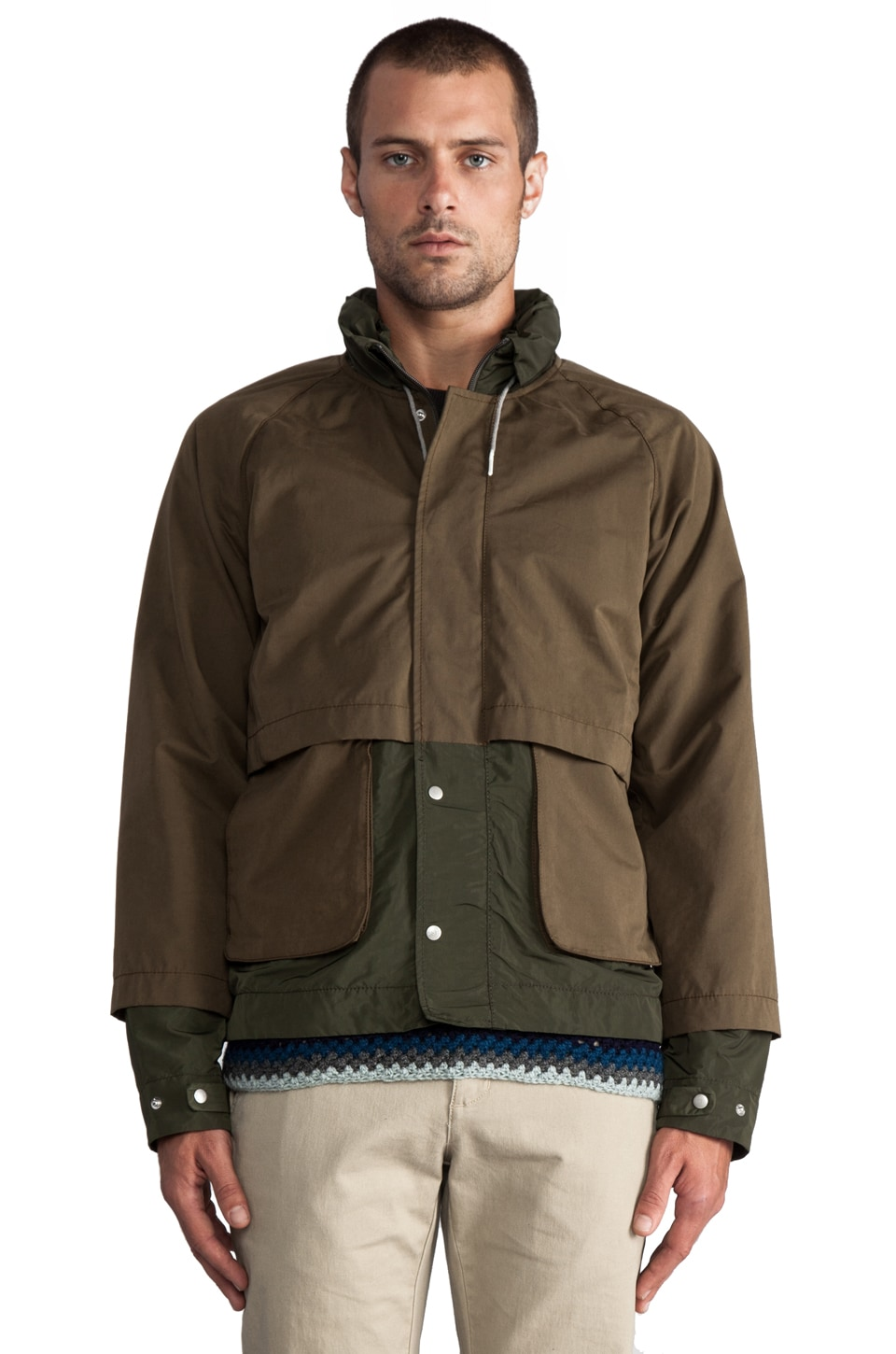 Folk Nix Outdoor Jacket in Field Green