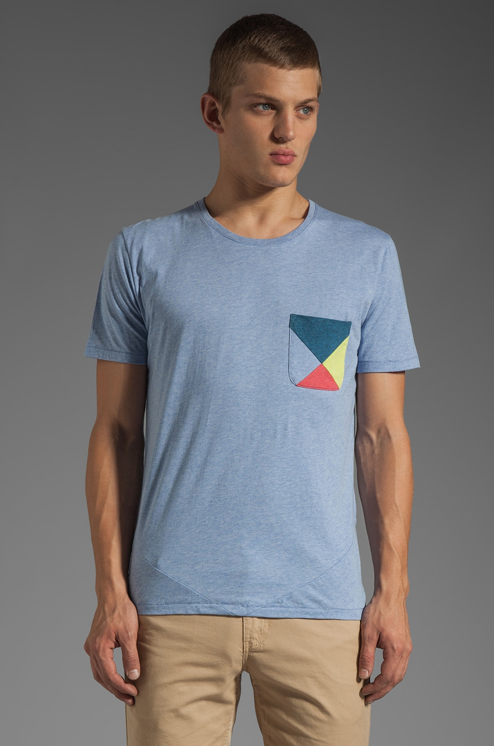 Folk Jester Tee in Sky Blue