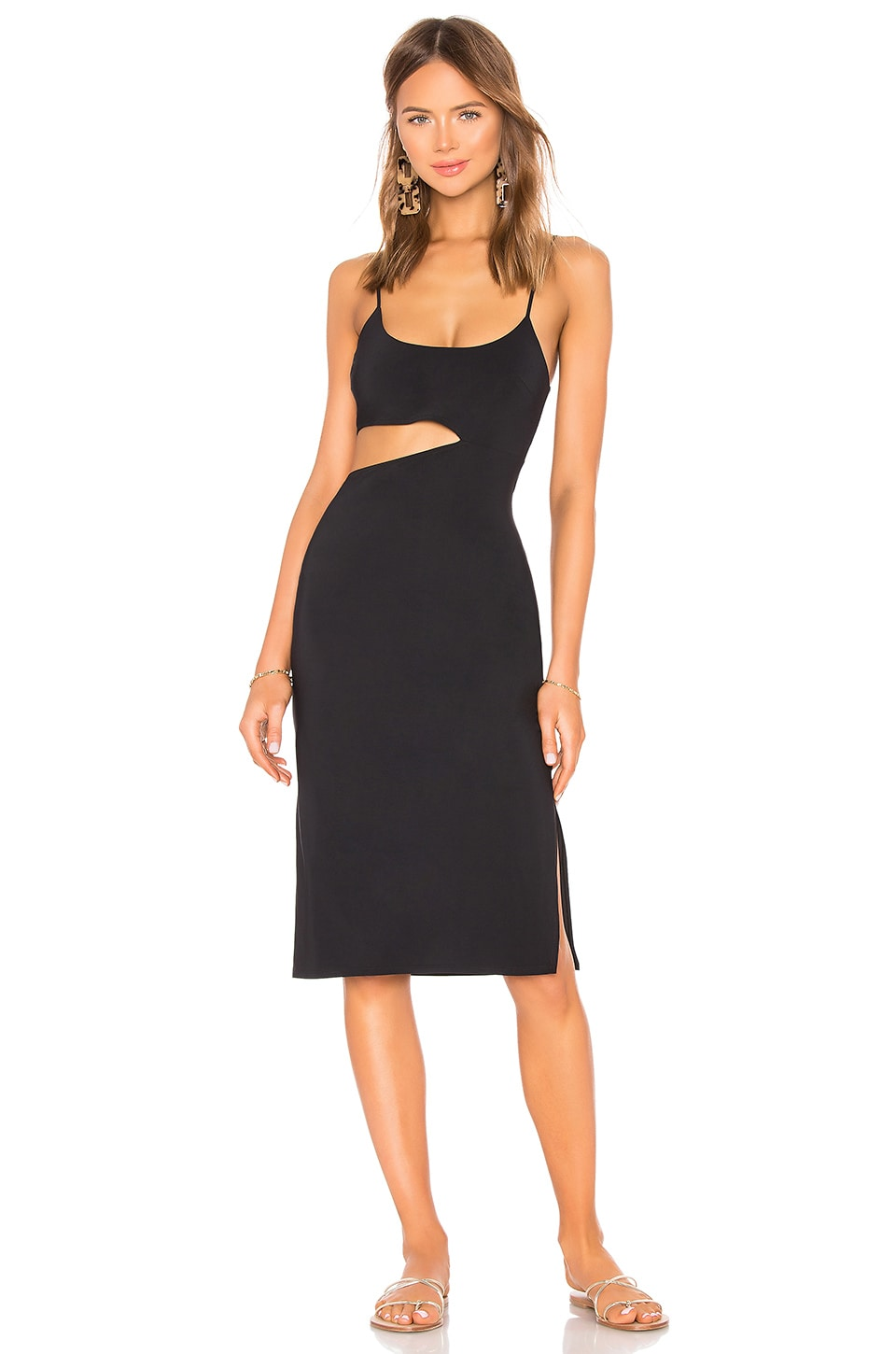 Flagpole FLAGPOLE BONDI DRESS IN BLACK
