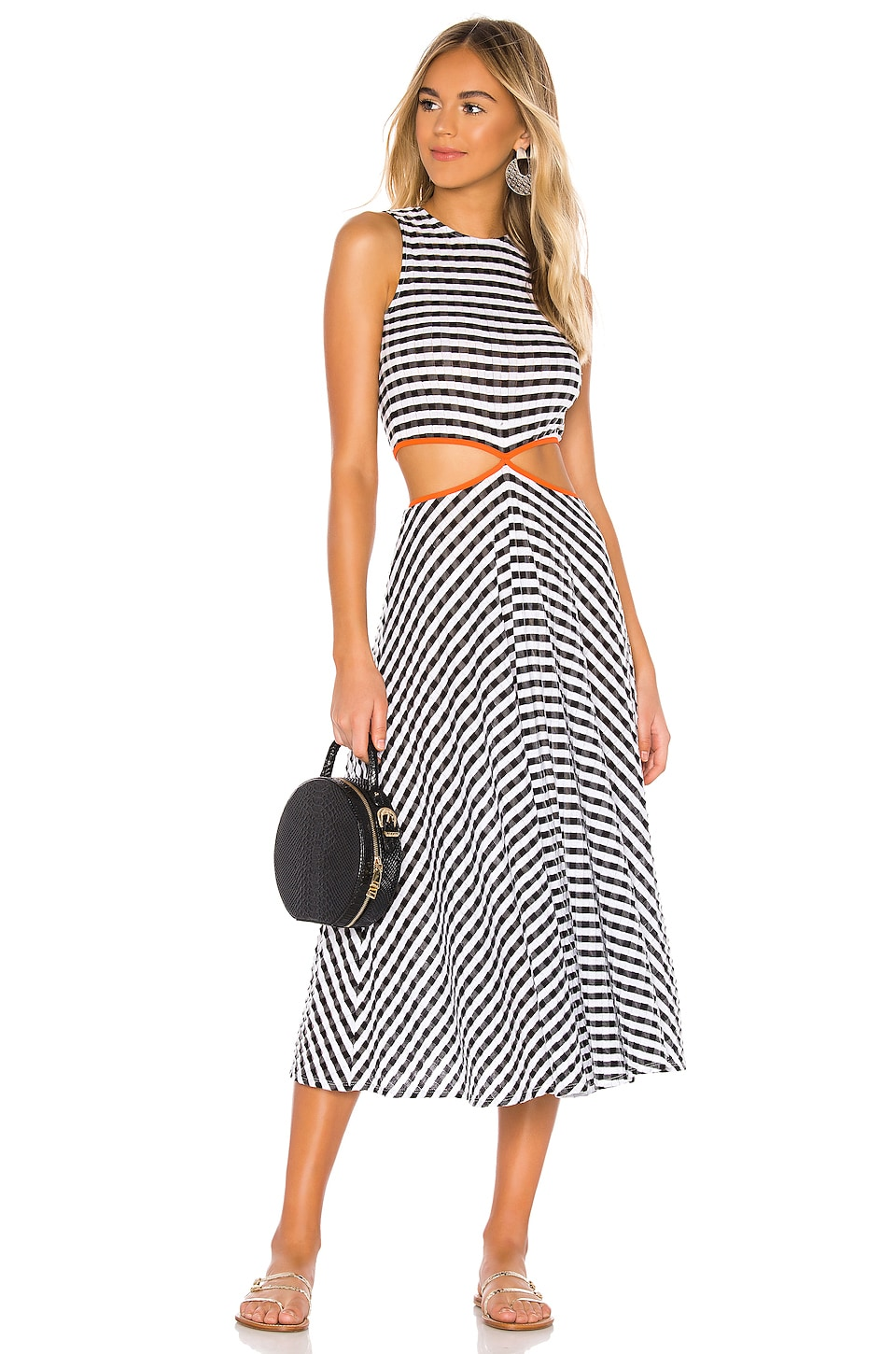 FLAGPOLE James Dress in Black & White Gingham