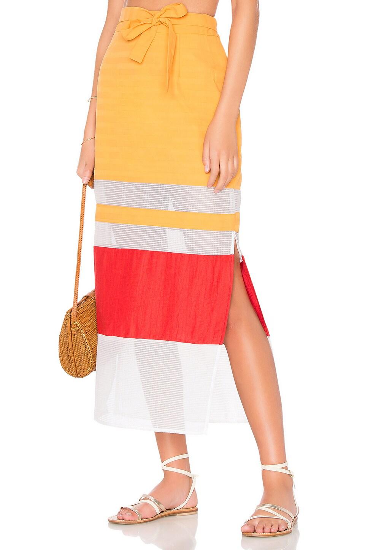FLAGPOLE Nadine Skirt in Pearl, Tangerine & Strawberry