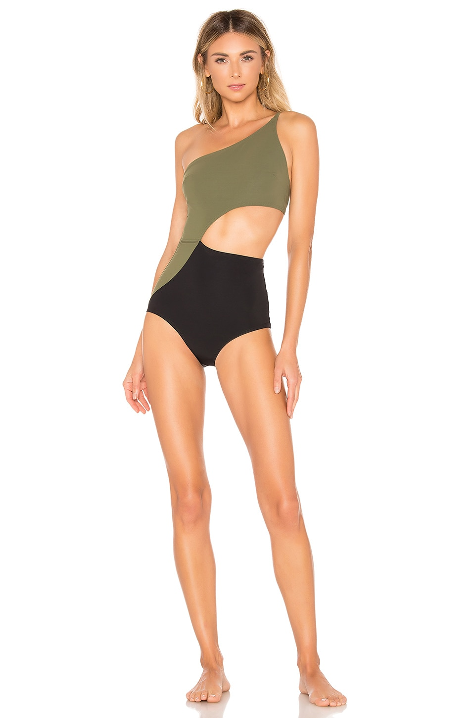 FLAGPOLE Ali One Piece in Olive & Black