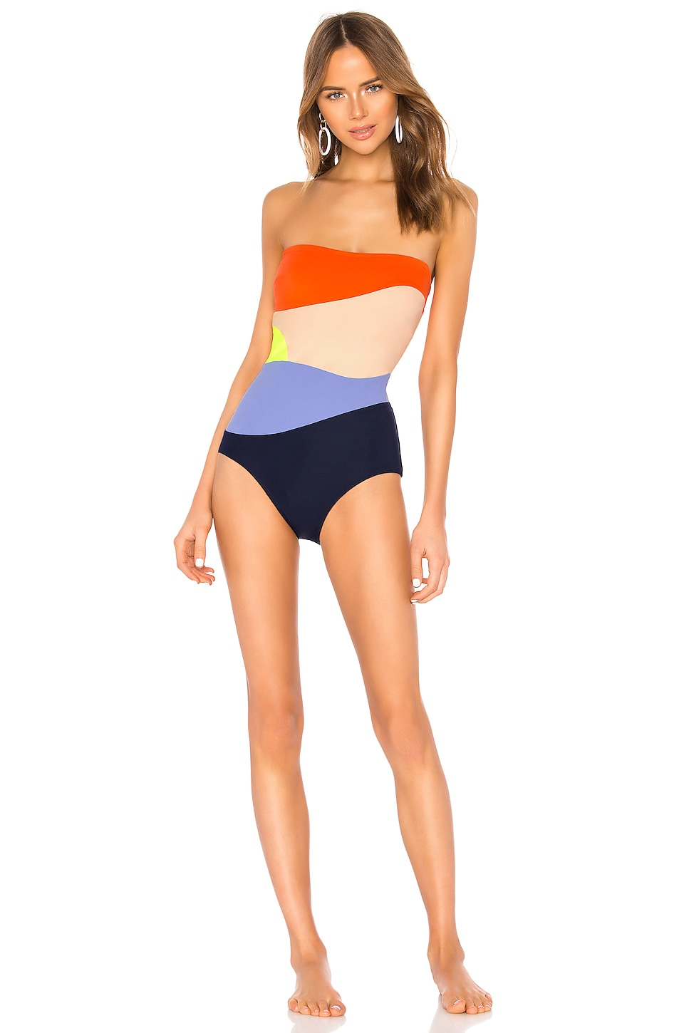 FLAGPOLE Sunset One Piece in Aperol Multi