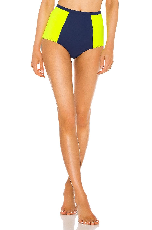 FLAGPOLE Stephanie Bikini Bottom in Navy & Tennis