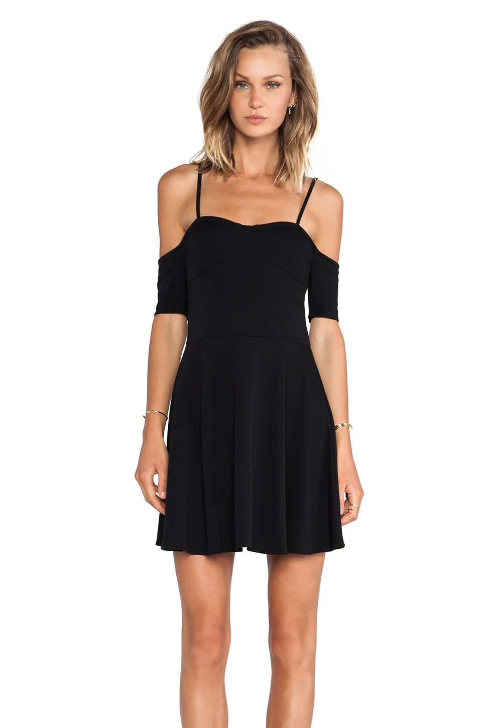 For Love & Lemons All Night Dress in Black