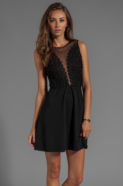 For Love & Lemons Lulu Dress in Black Daisy