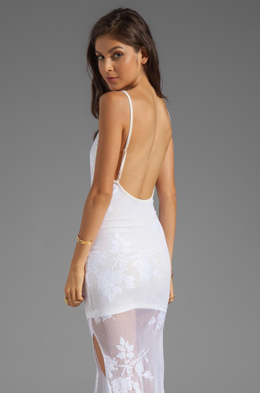 For Love & Lemons Summer Of Love Lace Maxi Dress in White