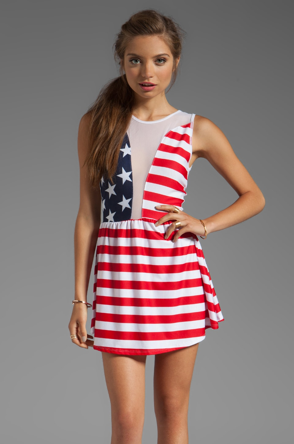 For Love & Lemons Lulu Dress in American Flag