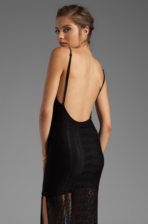For Love & Lemons Summer of Love Maxi Dress in Black