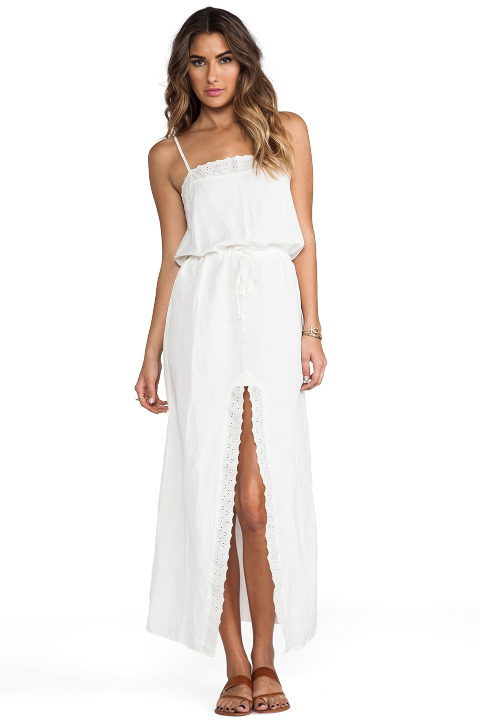 For Love & Lemons Kentucky Maxi Dress in Ivory