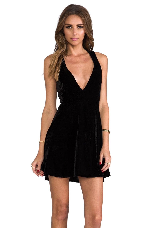 For Love & Lemons Pirouette Mini Dress en Black
