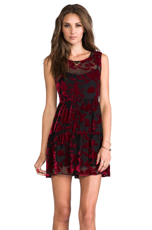 For Love & Lemons Rose Mini Dress in Rose