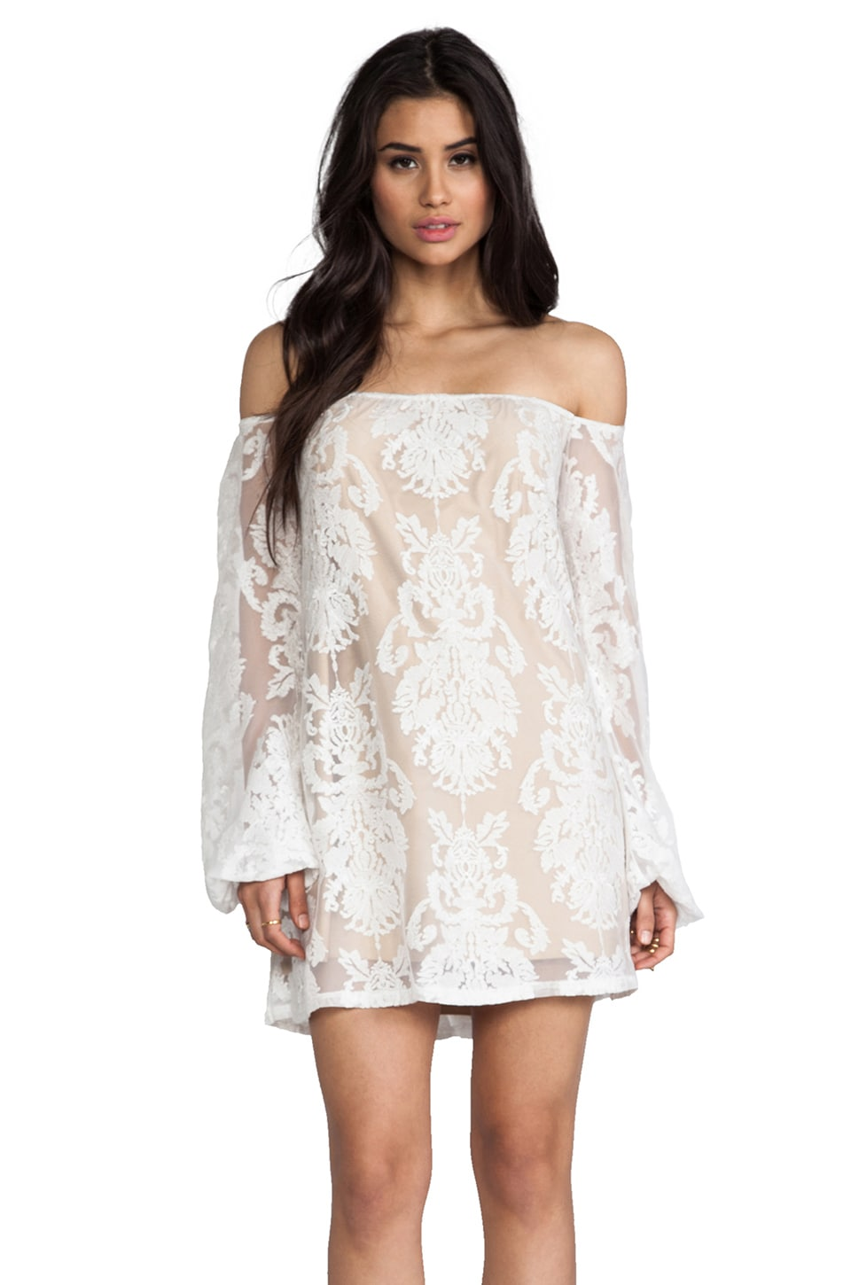 For Love & Lemons Precioso Dress in Ivory