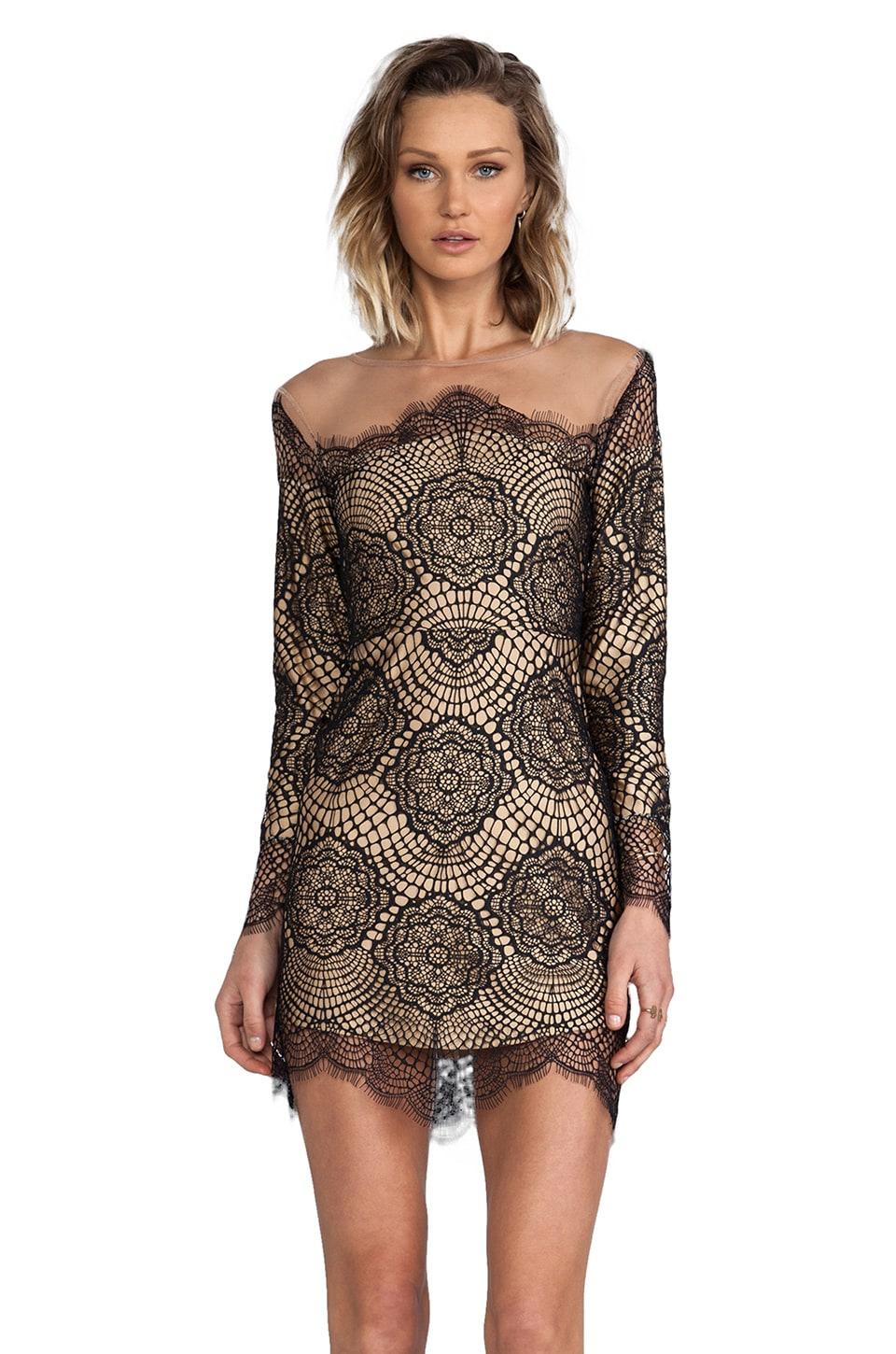 For Love & Lemons Grace Dress in Black