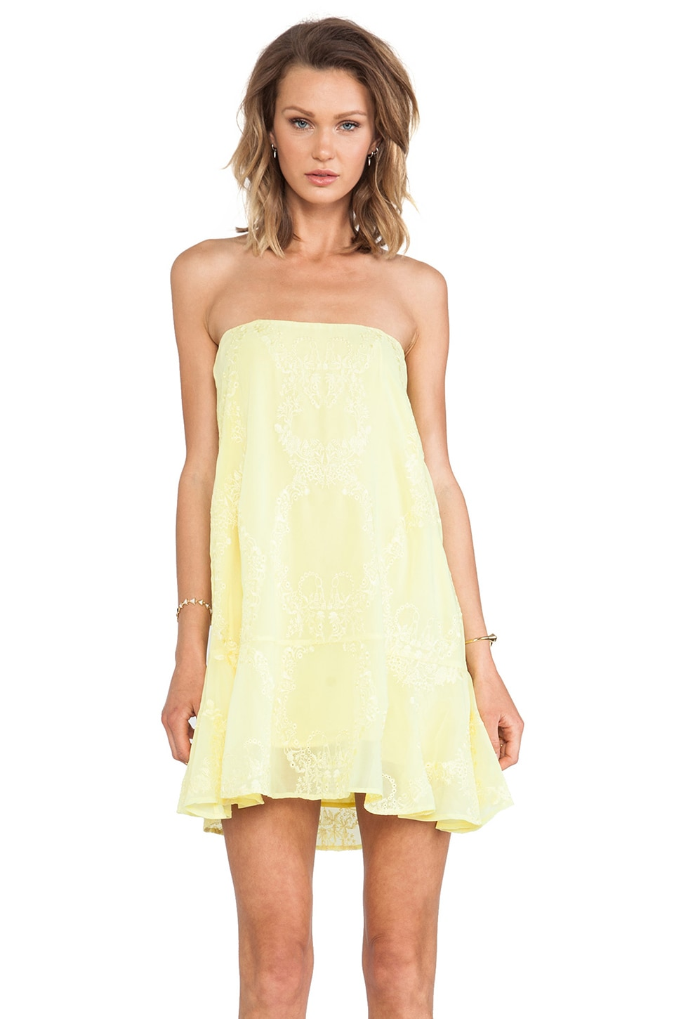 For Love & Lemons Margarita Dress in Chartreuse