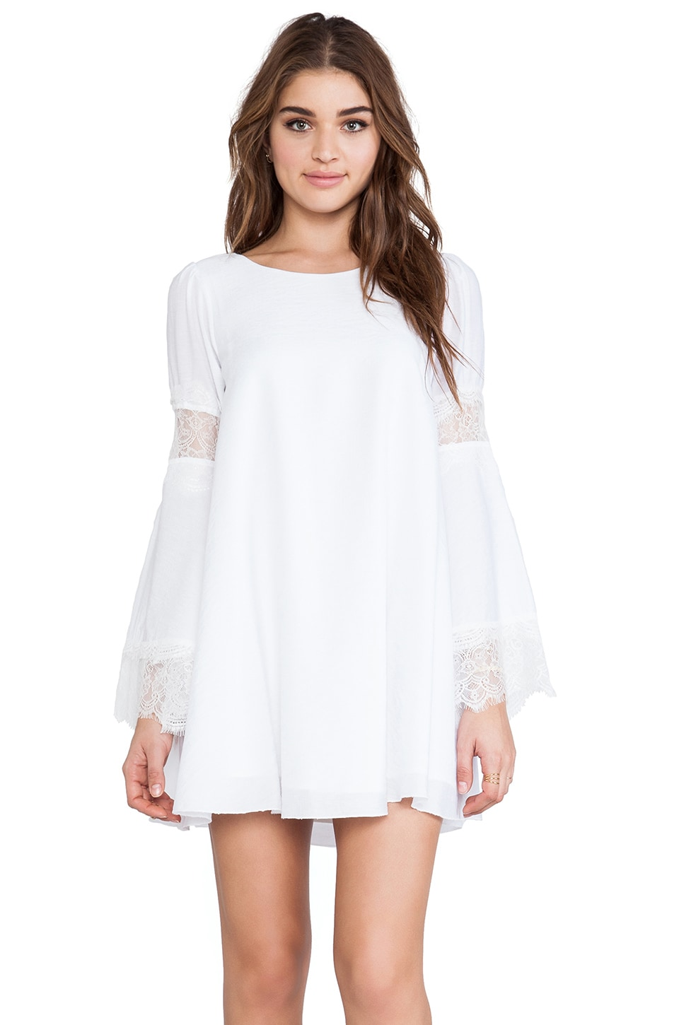 For Love & Lemons Festival Dress in Off White