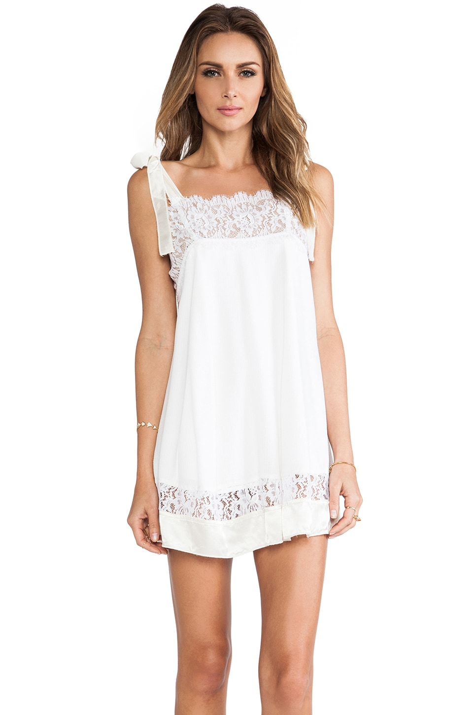 For Love & Lemons Bo Peep Dress in Off White