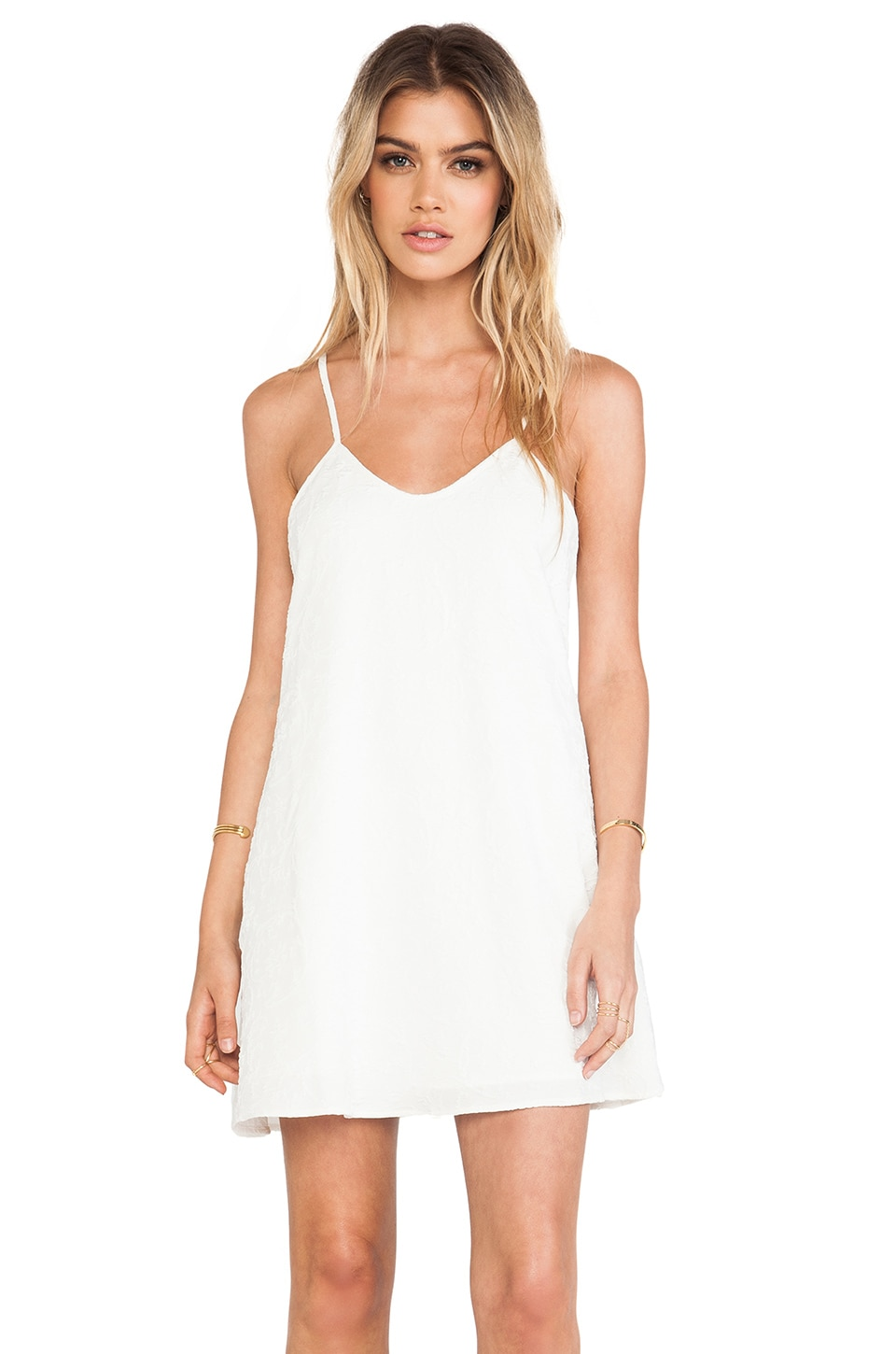 For Love & Lemons Rodeo Dress in Off White