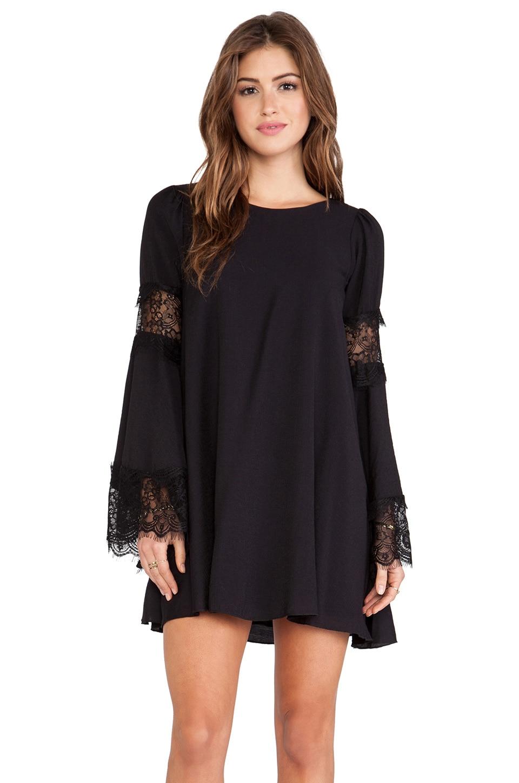 For Love & Lemons Festival Dress in Black